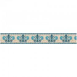 Frise auto-adhésive 14 cm x 5 m - pierre blue