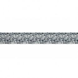 Frise auto-adhésive 14 cm x 5 m - galets blancs