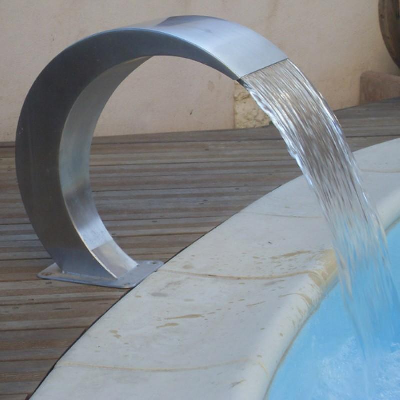cascade - fontaine - inox - 50 cm