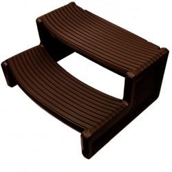 Escalier spa - pvc - marron